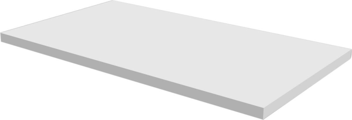Plan finition chêne naturel L 180 x l. 50 x ép. 2,8 cm.