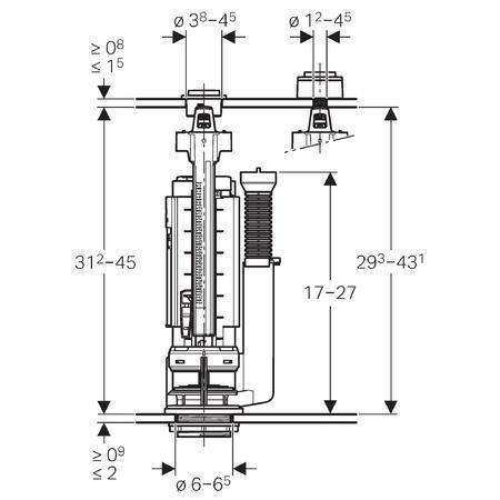 Mecanisme De Chasse Complet Geberit Types 290 380 Rincage Double