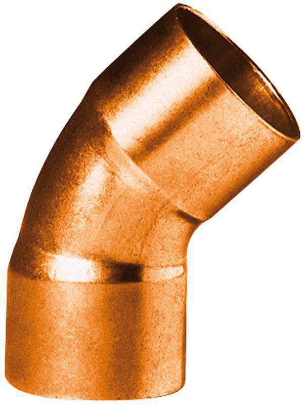 Coude cuivre 5041 petit rayon 45° femelle femelle D 15 ALTECH (Sachet de deux éléments)