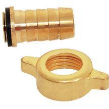 Raccord pour tuyau d 39 arrosage 2 pi ces 1 collier for Raccord tuyau d arrosage et robinet de cuisine