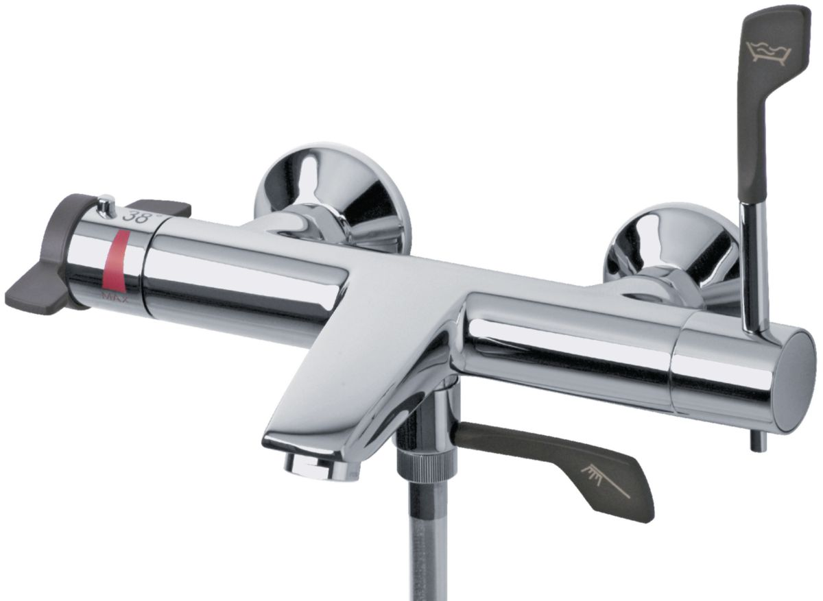 mitigeur thermostatique bain douche mobilita mural envie de salle de bain. Black Bedroom Furniture Sets. Home Design Ideas
