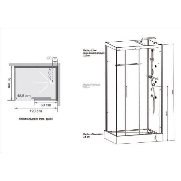 interesting cabine de douche domino x cm version confort alterna sanitaire brossette with porte. Black Bedroom Furniture Sets. Home Design Ideas