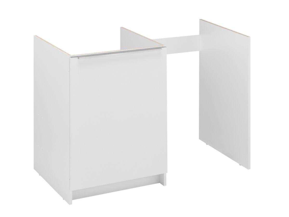 moderna meuble cuisinette boreale ou cadette m lamin 1 tag re 1 porte blanc largeur 100 cm. Black Bedroom Furniture Sets. Home Design Ideas