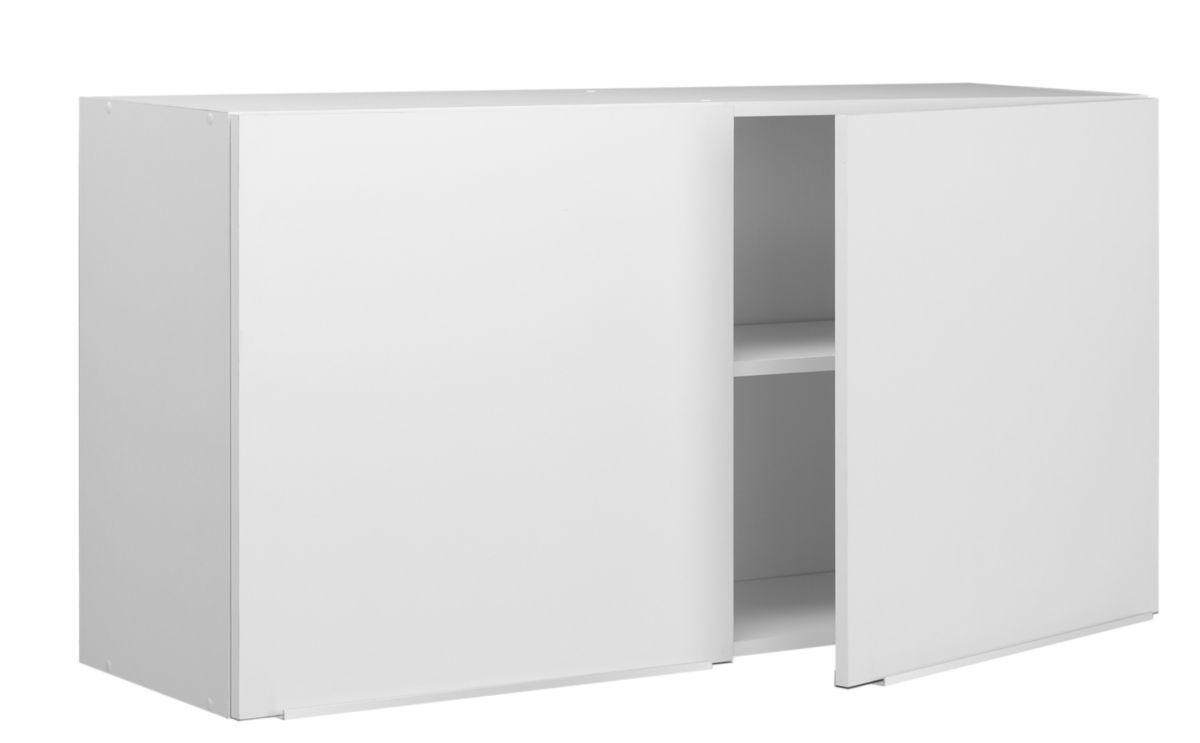 meuble haut boreale ou cadette mlamin simple 2 portes largeur 120 cm rf ascp120d05 moderna sanitaire brossette