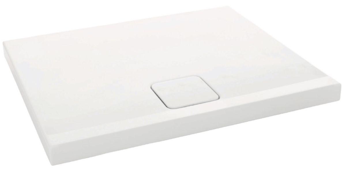 Superior Receveur Extra Plat 100X80 #7: Receveur Douche ODEON UP Extra Plat 100x80 Antidérapant Blanc Réf N109K220  - JACOB DELAFON - Sanitaire -CEDEO
