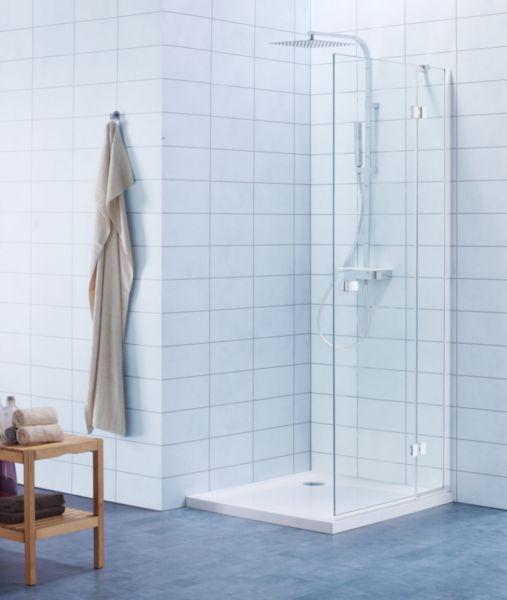 Paroi de douche pivotante pliante DOMINO L90 cm version gauche