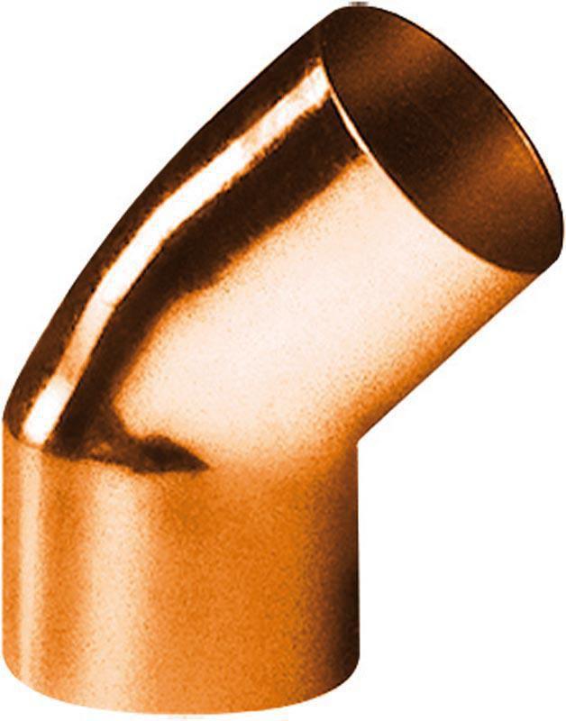 Coude cuivre 5040 petit rayon 45° mâle femelle D 15 sachet de 10 ALTECH