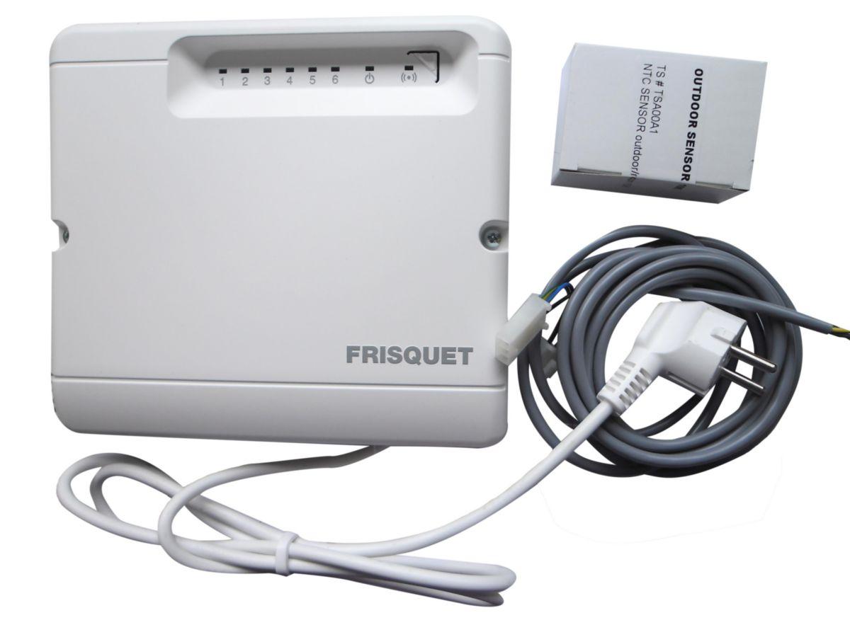 Sonde extérieure radio + câble sécurité plancher chauffant pour chaudière condensation Visio réf. F3AA41227
