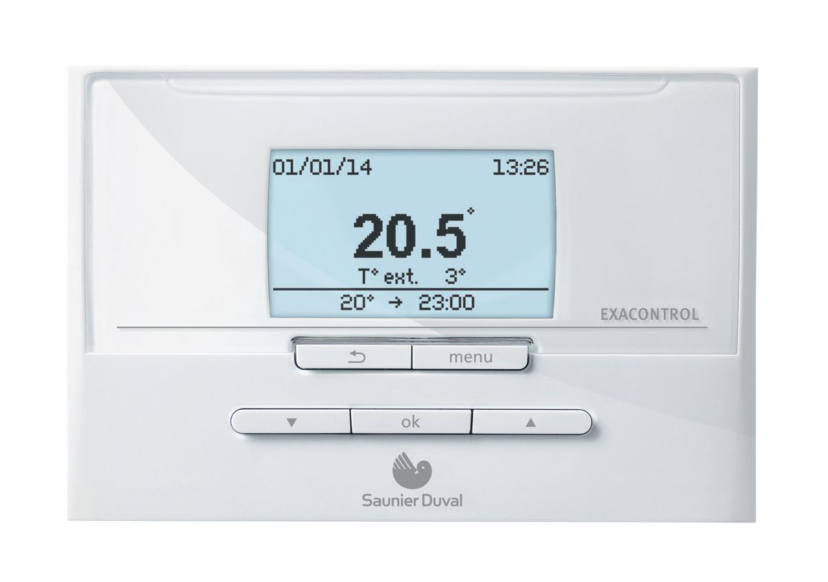 saunier duval thermostat d 39 ambiance exacontrol e7 c. Black Bedroom Furniture Sets. Home Design Ideas