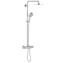 Système de douche mur thermostatique RAINSHOWER Chrome Réf 27967000