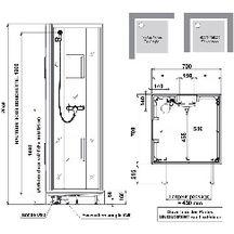 Cabine de douche izibox carr e 70x70cm installation en for Cabine de douche cedeo