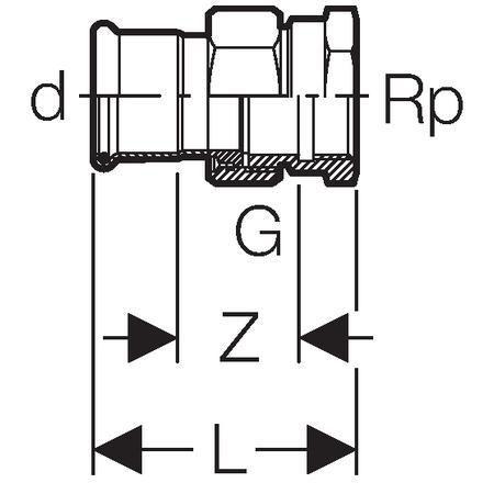 Raccord union taraudé femelle D35-33x42 Réf 25307