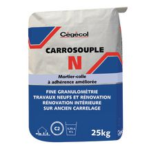 Mortier-colle Carrosouple N blanc sac 25kg 0021983