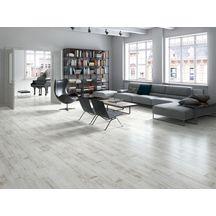 Carrelage sol intérieur grès cérame Village - white - 24,8x100 cm