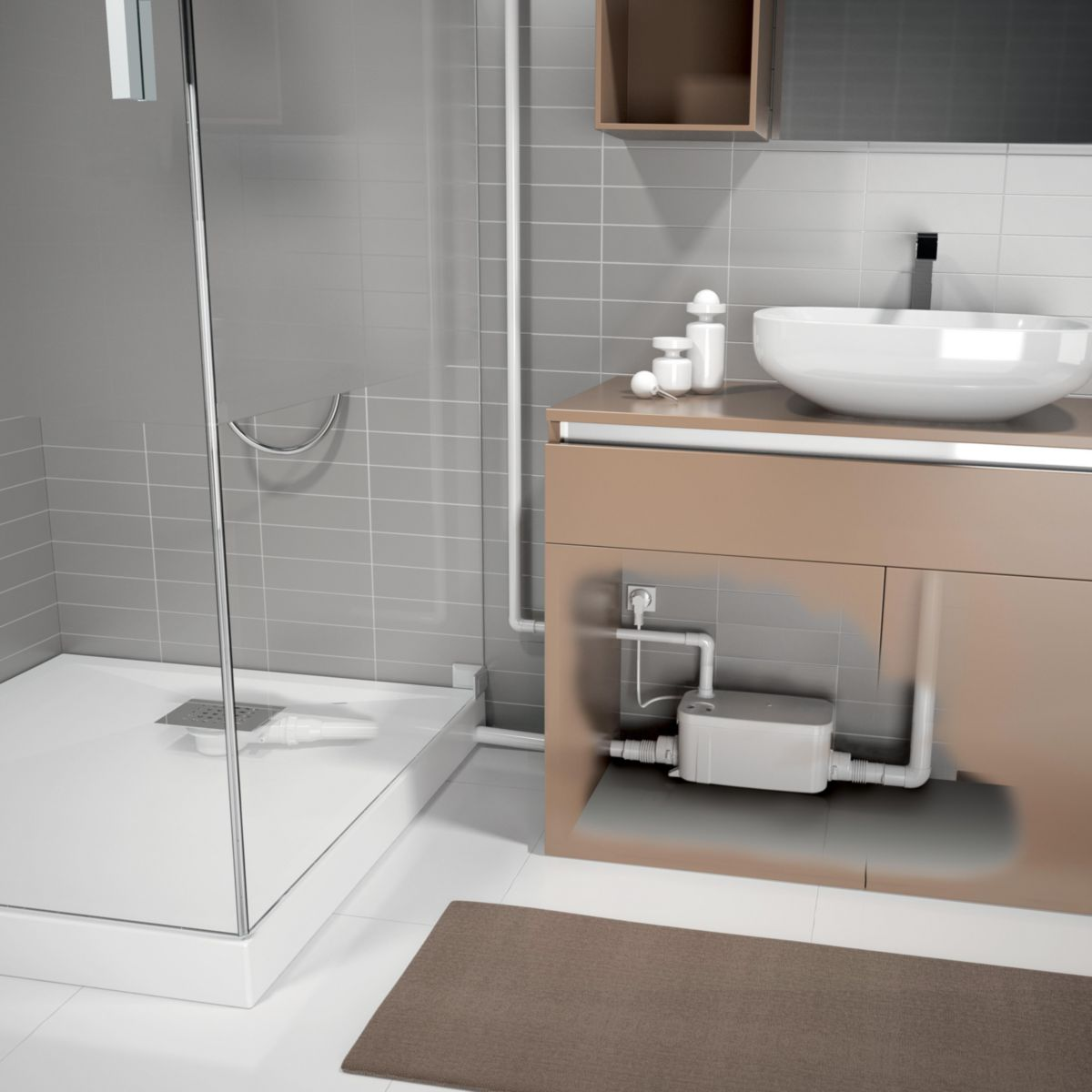 pompe de relevage douche vd90 r f kinpompe06 kinedo douche. Black Bedroom Furniture Sets. Home Design Ideas