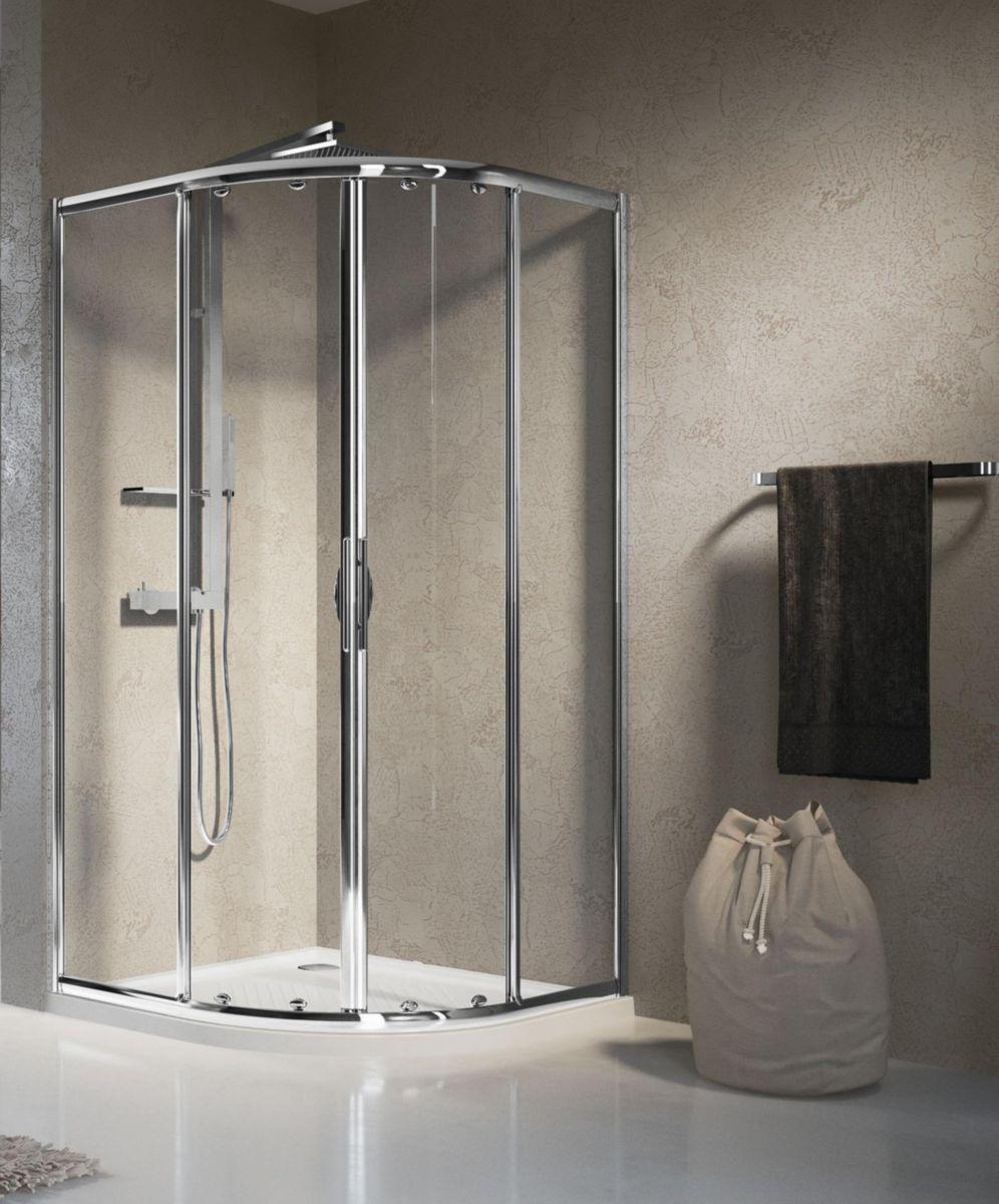 paroi de douche lunes r cmx cm en de cercle compose de panneaux coulissants fixes rversible larg. Black Bedroom Furniture Sets. Home Design Ideas