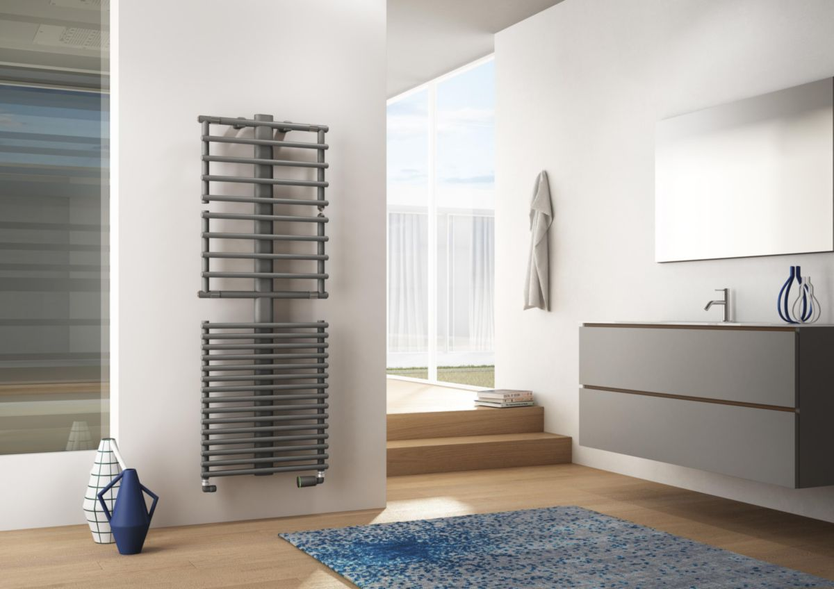 Puissance Radiateur Eau Chaude Salle De Bain ~ radiateur s che serviettes eau chaude stand up double 710w 1499 x