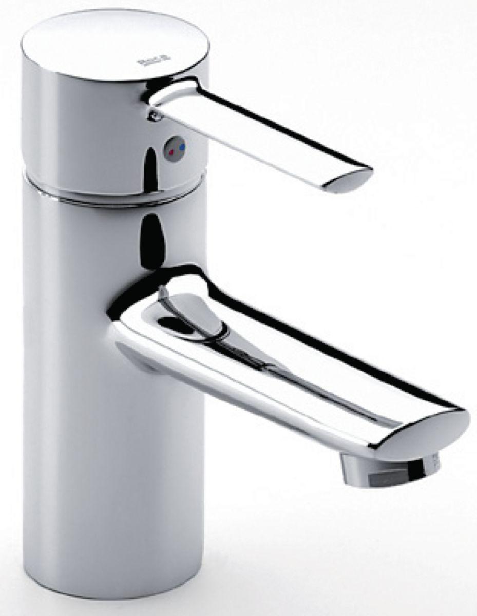 Mitigeur de lavabo TARGA monotrou avec vidage automatique en laiton et flexibles d'alimentation, chromé réf. A5A3060C00
