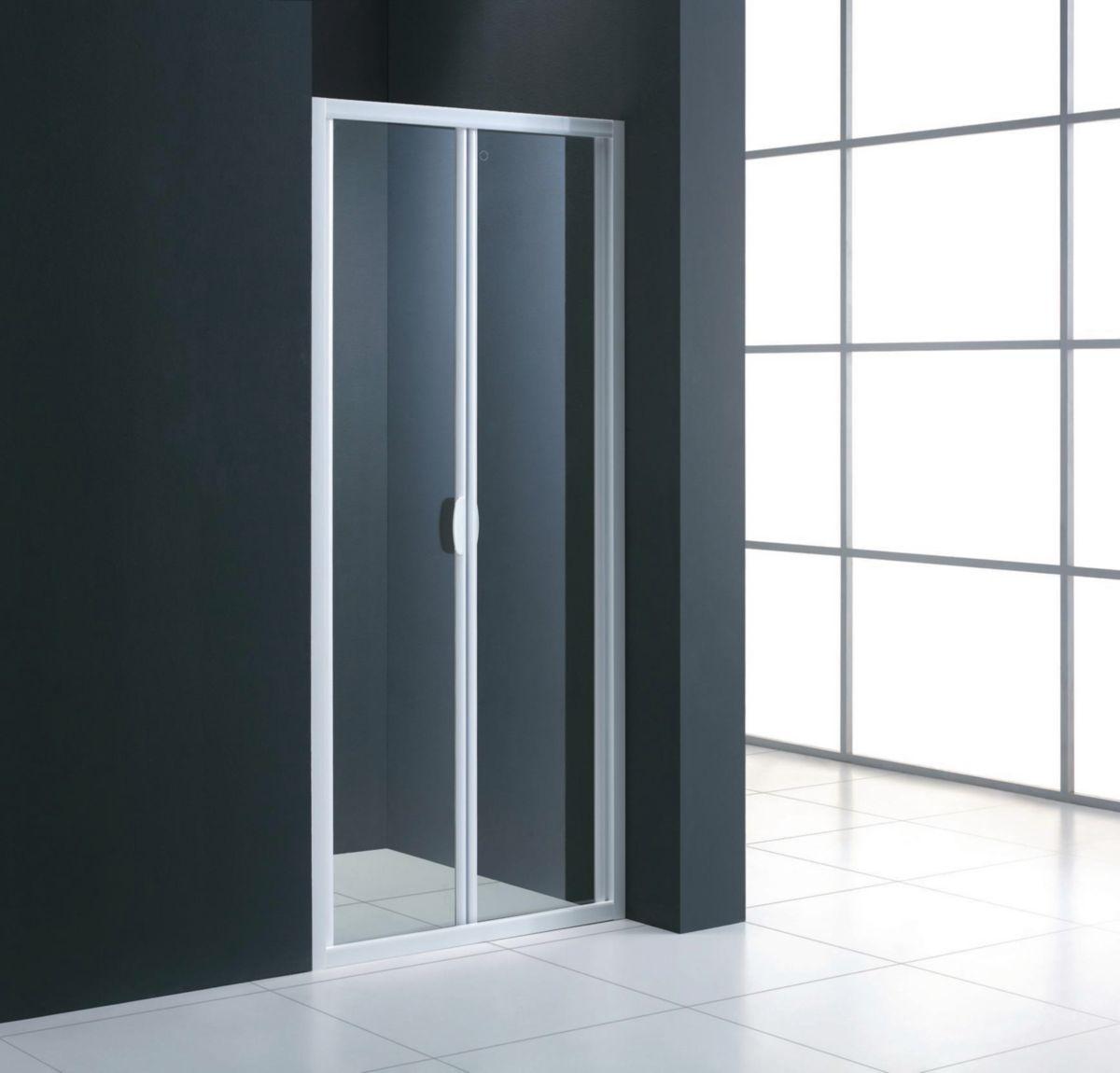 Accès Face MEZZO Porte Pliante Extensible De 85 à 89 Cm Verre Transparent -  ALTERNA - Sanitaire -CEDEO