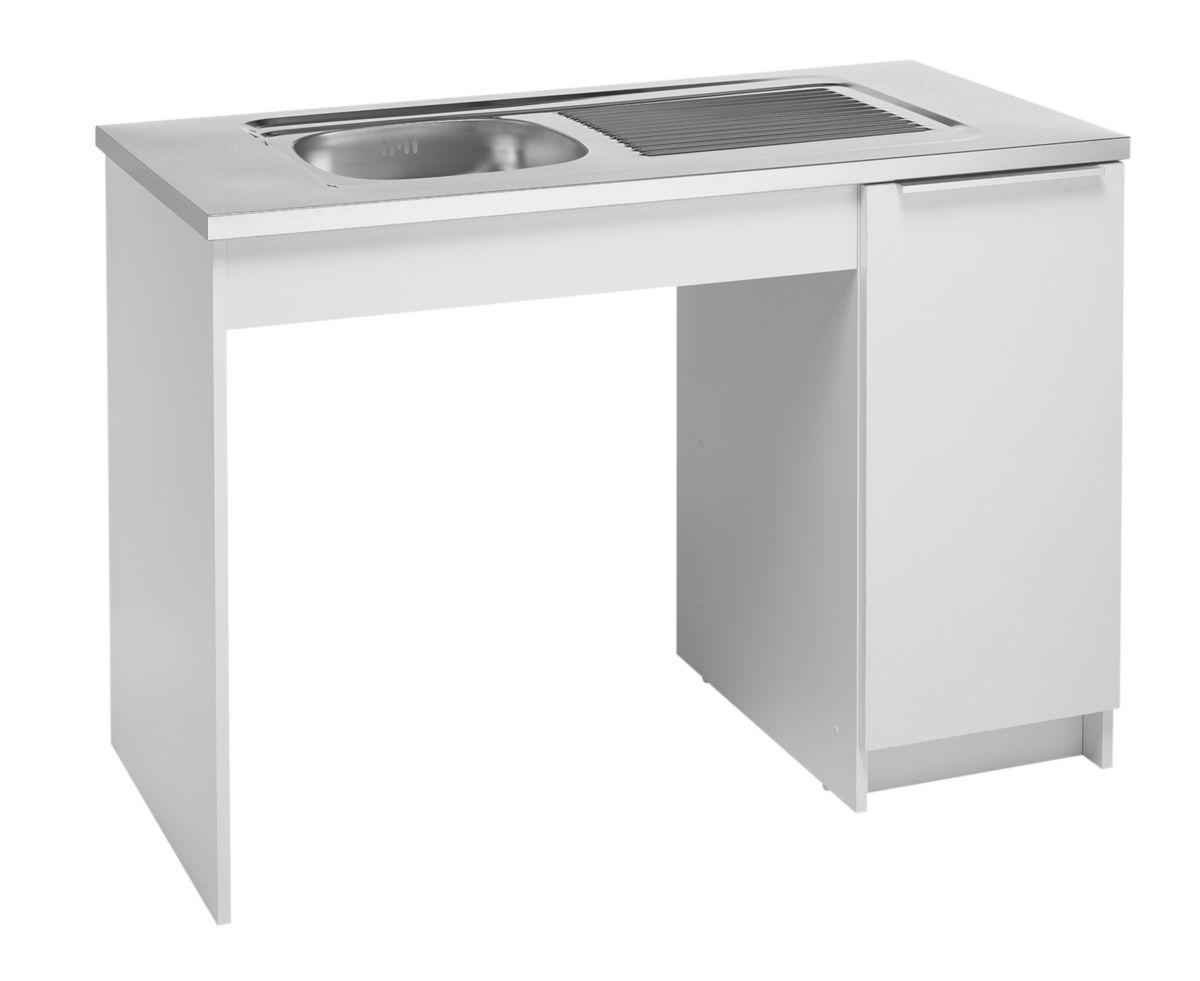 Moderna meuble cuisinette boreale ou cadette m lamin pmr largeur 120 cm caisson r f - Cuisinette moderna ...