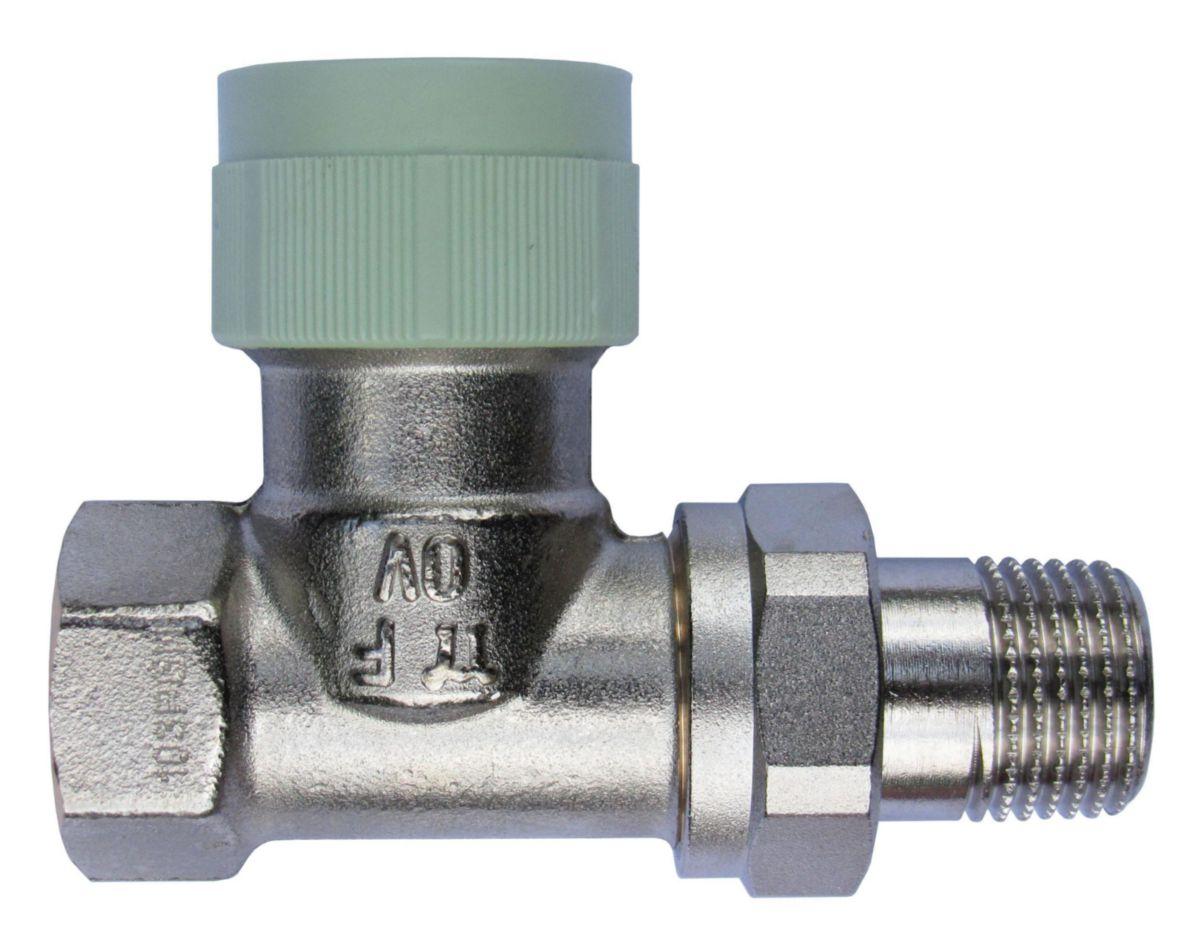 Corps de robinet droit 20 X 27 RFV9 à encombrements réduits et préréglage progressif réf. 1185106