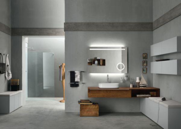 Meuble salle de bain PROGETTO+ olmo tabac 220 cm