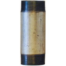 Mamelon 530 tube soudé filetage conique longueur 100mm galva D12x17 réf 530012100G