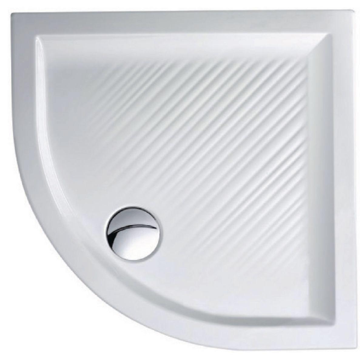 receveur de douche quart de rond 80x80