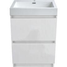 Meubles et accessoires de salle de bain sanitaire cedeo - Meuble salle de bain a poser au sol ...