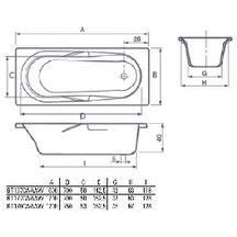 baignoire rectangulaire volta 170x75 cm blanc acrylique. Black Bedroom Furniture Sets. Home Design Ideas