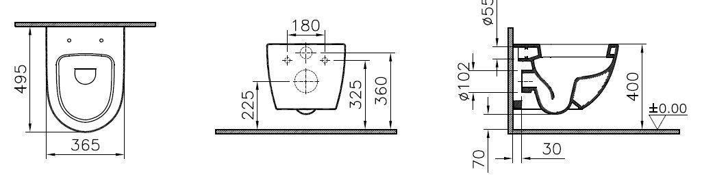 ... Pack WC suspendu Daily O2 courte avec abattant frein de chute  declipsable ... 6311c5823536