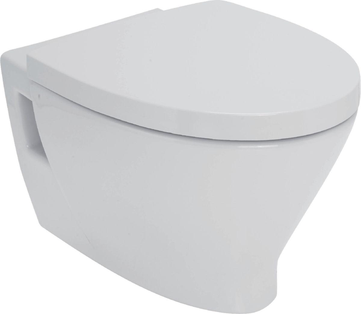 alterna pack wc suspendu seducta blanc avec abattant cedeo. Black Bedroom Furniture Sets. Home Design Ideas