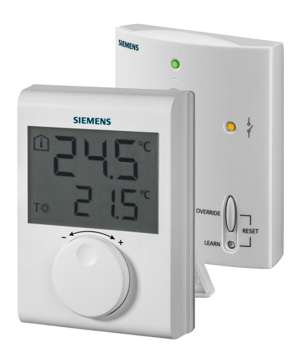 Thermostat d'ambiance grand LCD kit RF Réf S55770-T378