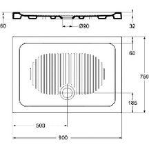 receveur extra plat poser connect 90 x 75 cm gr s blanc r f t267301 ideal standard. Black Bedroom Furniture Sets. Home Design Ideas