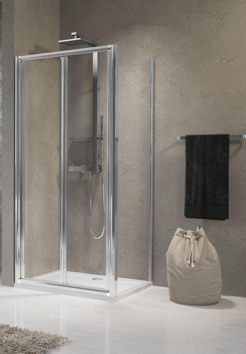 Novellini porte de douche lunes s 84 cm extensible jusqu - Porte douche pliante 90 ...