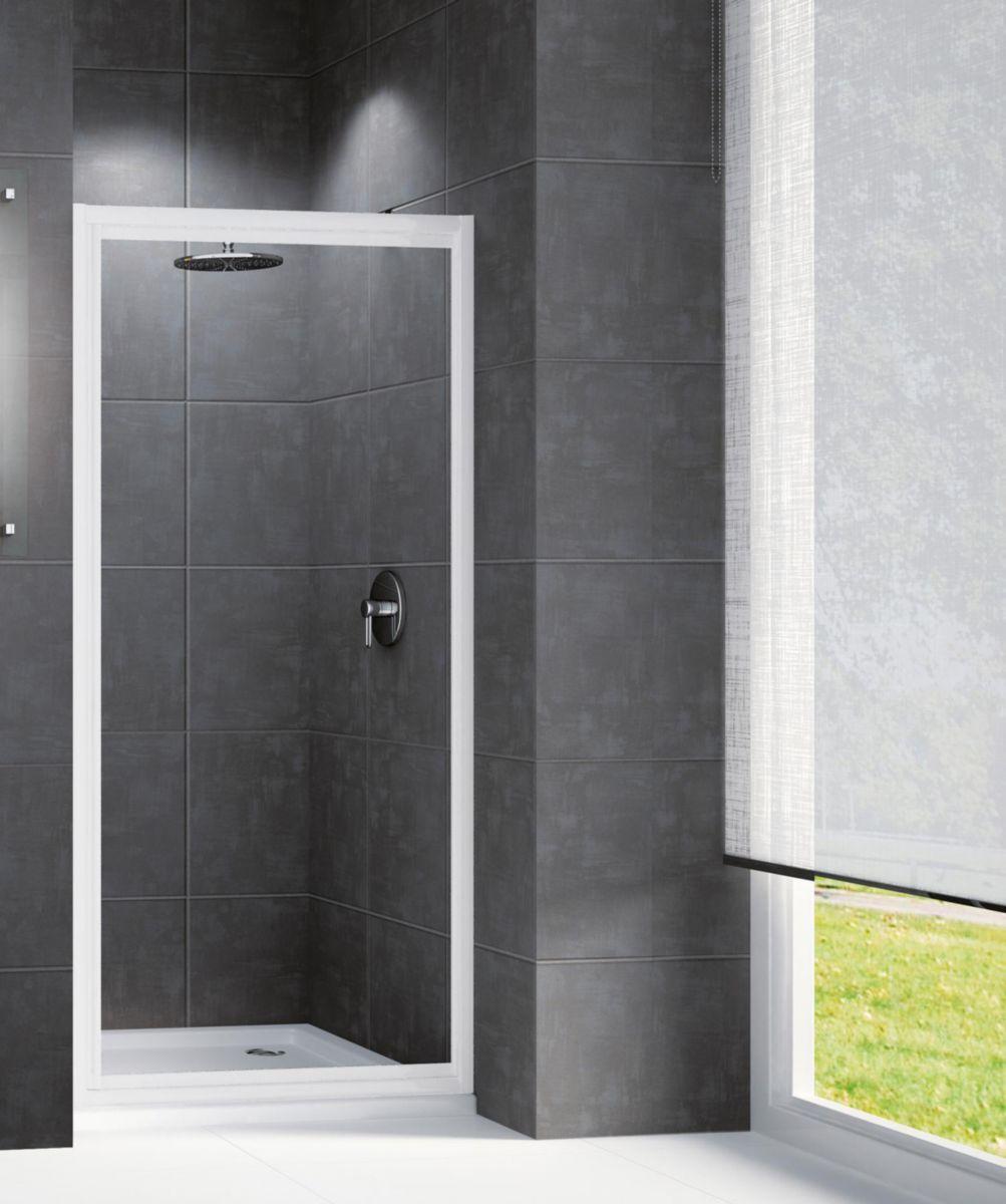 Novellini porte de douche riviera g 90 88 cm extensible jusqu 39 92 cm pivotante r versible - Porte de douche 90 ...