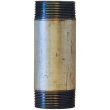 Mamelon 530 tube soudé filetage conique longueur 200mm galva D40x49 réf 530040200G