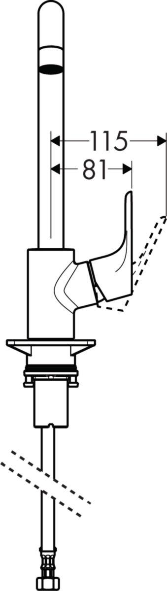 Mitigeur d'évier FOCUS, bec orientable en 3 étapes 110°, 150° ou 360°, chromé réf. 31820000
