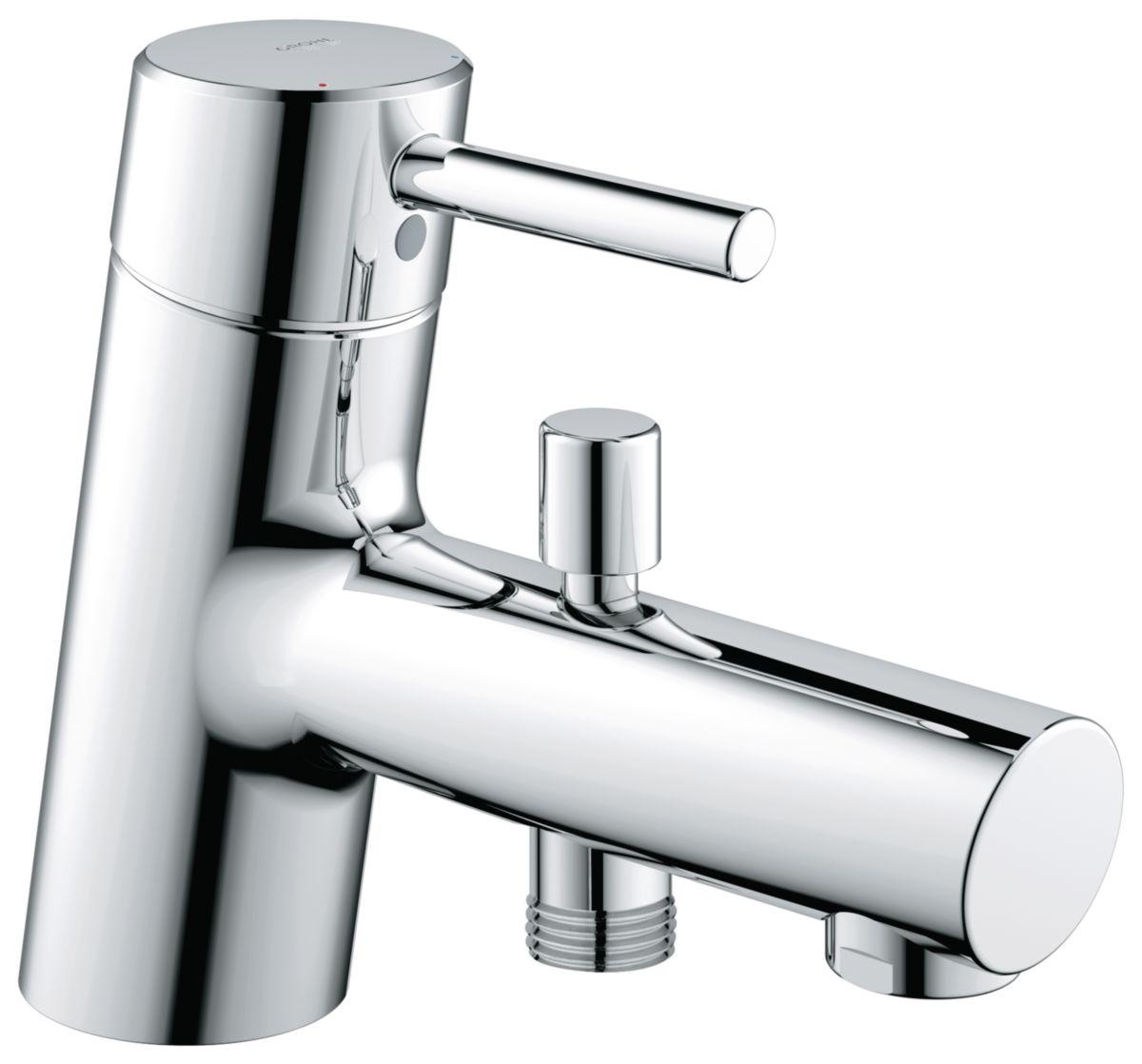 Mitigeur bain-douche CONCETTO II monocommande 15 x 21, mousseur, chromé réf. 32701001