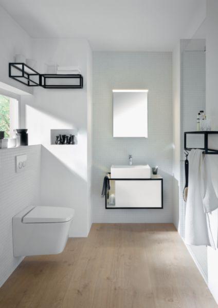 Meuble salle de bain JUNIT blanc brillant 76 cm
