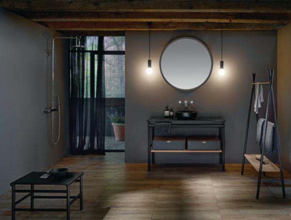 Meuble salle de bain MYA chêne noir 120 cm