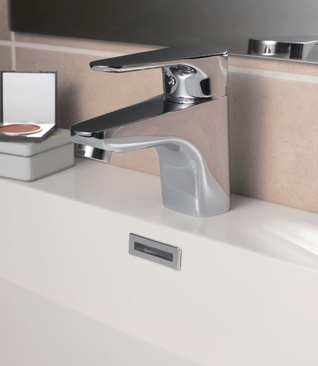 Mitigeur lavabo CONCERTO4, vidage laiton, cartouche céramique avec point dur, manette métal, NF, chromé 3461851
