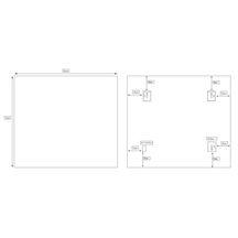 Miroir bruges 90 x hauteur 70 cm alterna sanitaire cedeo for Miroir hauteur 90 cm