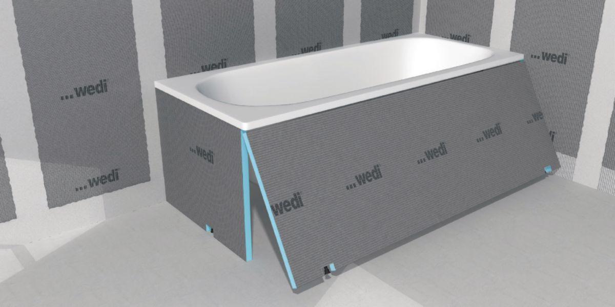 Tablier de baignoire Wedi Bathboard 1800x600x20mm Réf. 07 38 20