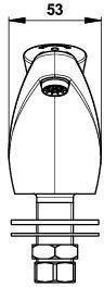 Robinet de lavabo PRESTO 605 fixation sur plage eau froide raccord 15 x 21 réf. 64602