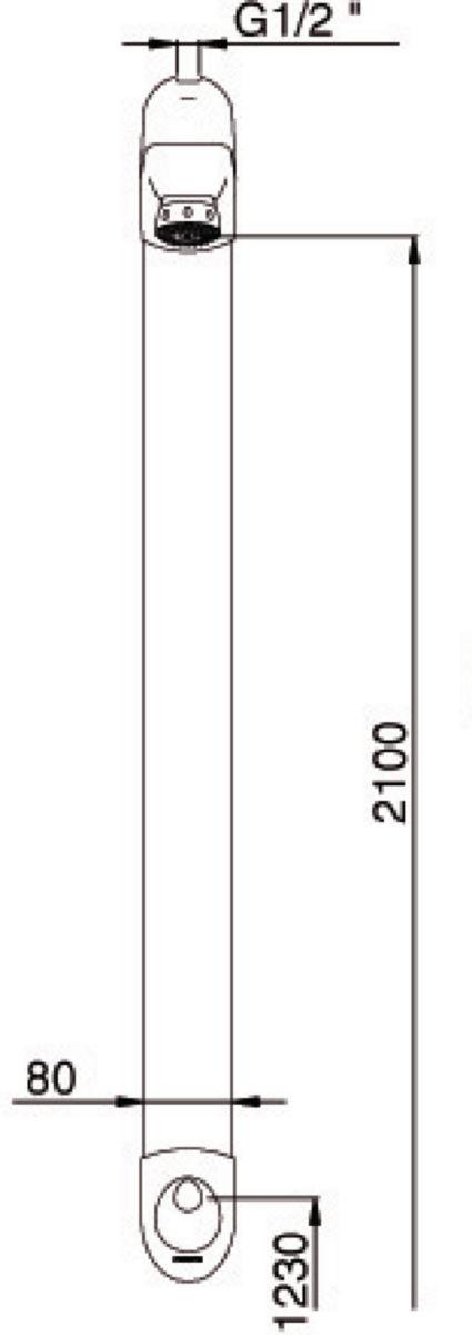 Robinetterie temporisée de douche DL 400SE avec robinet d'arrêt droit, chromé réf. 27400