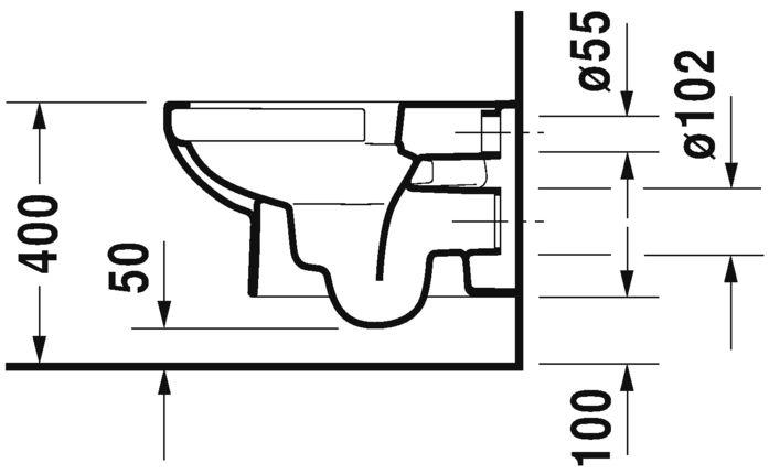 Pack wc suspendu durastyle basic rimless abattant frein de chute Réf. 45620900A1