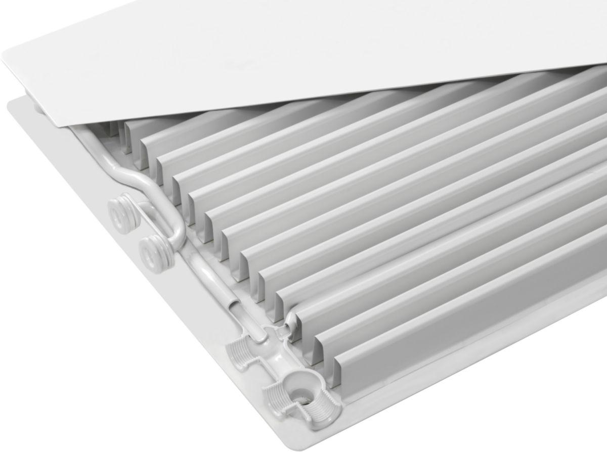 Radiateur face plane PARADA E.FLOW 22 hauteur 900 mm longueur 1050 mm blanc réf. F8Z2209010510300
