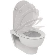 WC Suspendu /Œuf Ove avec Abattant Blanc 59x41 cm