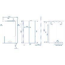 chaudi re murale gaz egalis condensation avec ballon int gr de 48 l sortie ventouse 23 7 kw. Black Bedroom Furniture Sets. Home Design Ideas